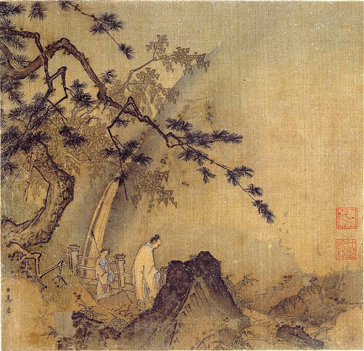 Ma Yuan's Scholar by a Waterfall