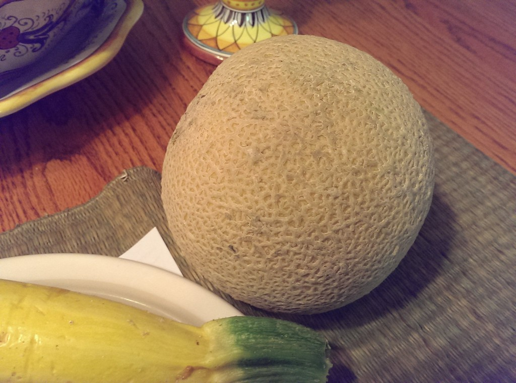 this melon tasted amazing! And I don't even really like canteloupe