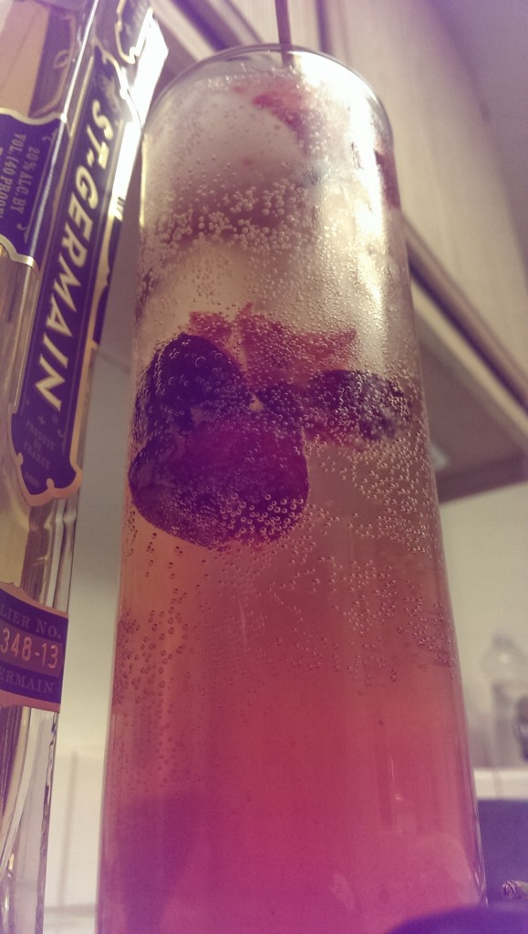 Cherry Elderflower Fizz